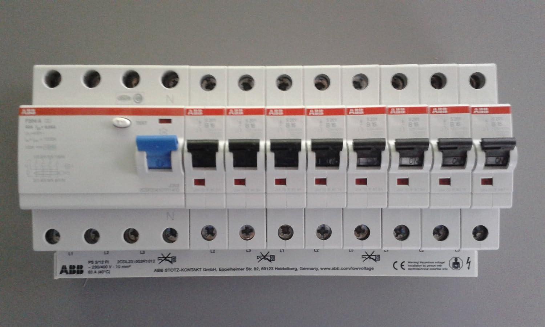 TM: ABB 1x FI F204A-40/0,03 + 8x ABB LS-Schalter S201-B16 + 1x PS3 ...