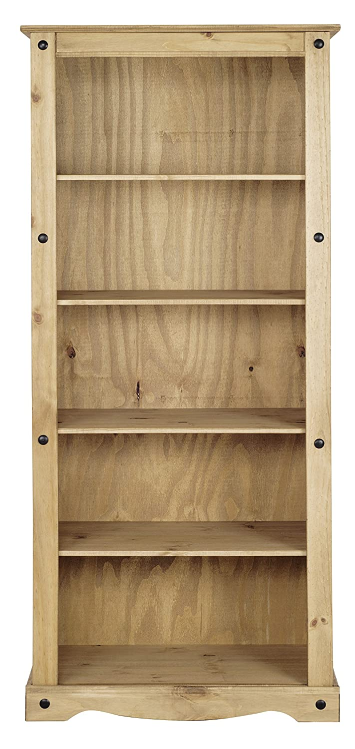 Corona Tall Bookcase - Distressed Waxed Pine P1201-CR