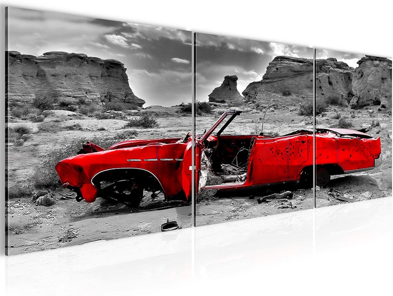 Cuadro de pared para coche Grand Canyon, 120 x 40 cm, lienzo de fieltro, tamaño XXL, 3 piezas, fabricado en Alemania, listo para colgar