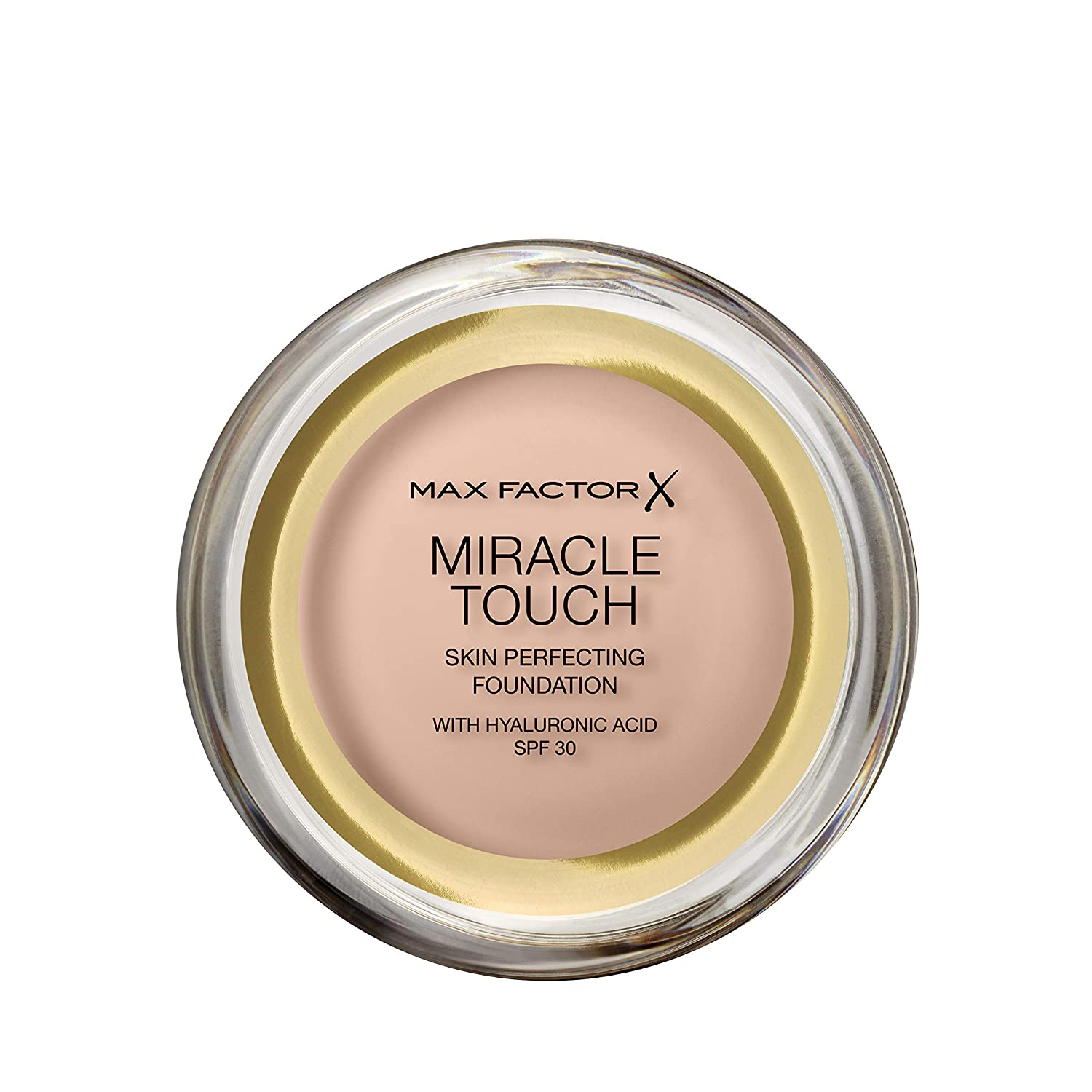 Max Factor Miracle Touch Foundation, New and Improved Formula, SPF 30 and Hyaluronic Acid, 38 Light Ivory