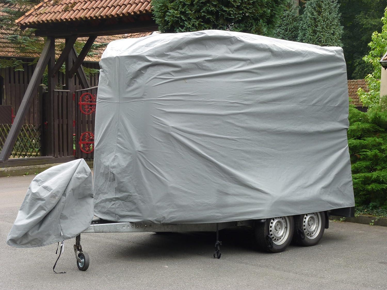 EXCOLO Pferdeanhänger Schutzhaube Schutz Hülle Schutzplane Abdeckung Garage für 2er Pferdetransporter 100592