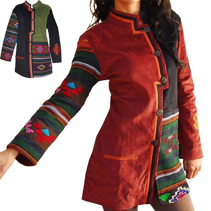 Tijar fashion - Chaqueta de pana y lana - Abrigo para mujer: Amazon.es: Ropa y accesorios