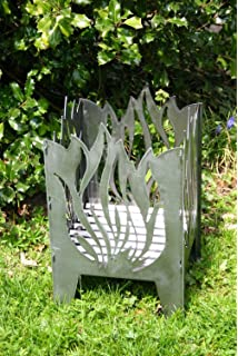 L Flamme *Design Gr Feuerkorb Motiv Stahl Feuersäule Edelrost Made in Germany