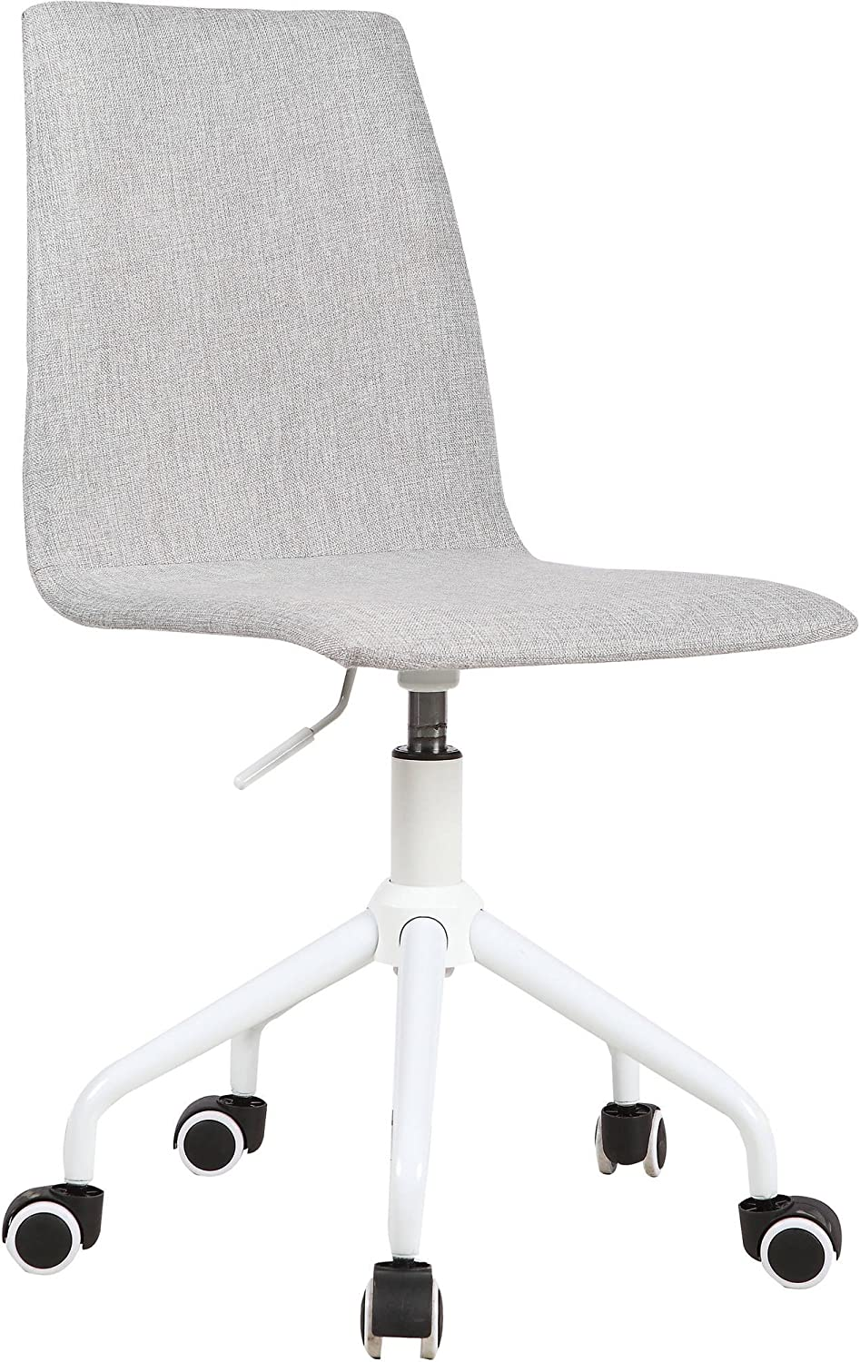 Urban Shop Rolling Linen Swivel Task Chair, Grey