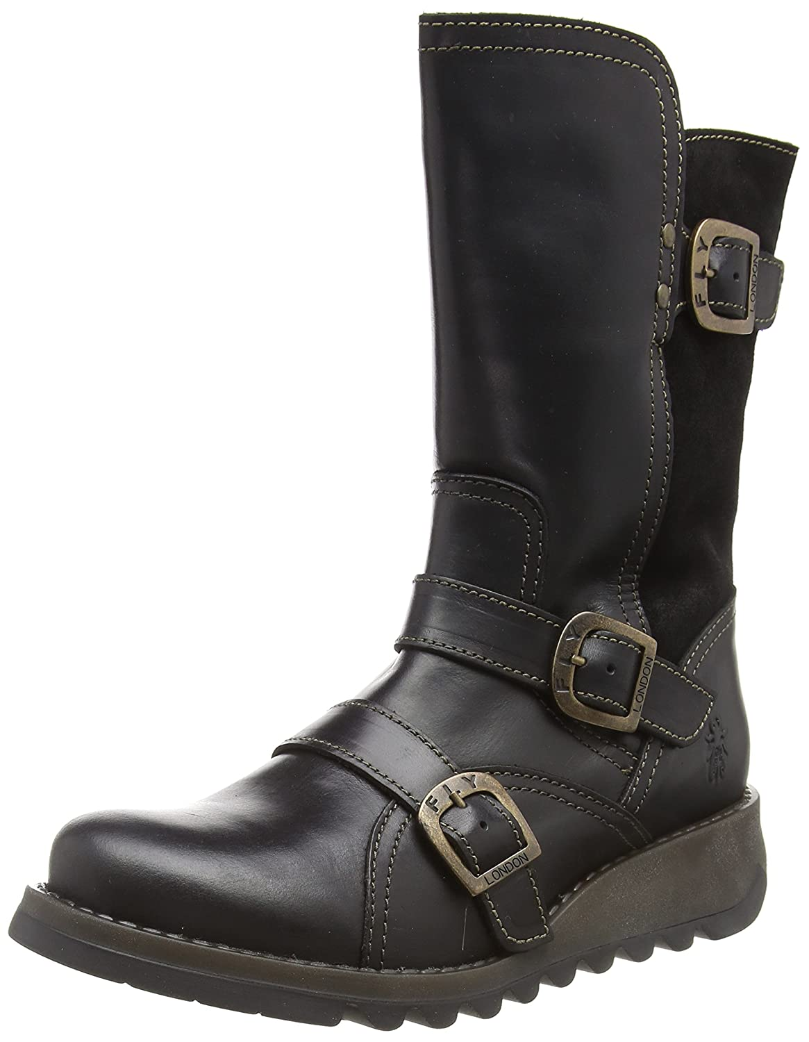 FLY London Damen Selk350fly Biker Stiefel