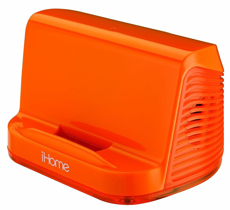 iHome Portable Stereo Speaker System for iPad/iPod/MP3 Players (Orange Neon) Sound Design Inc. iHM16EN
