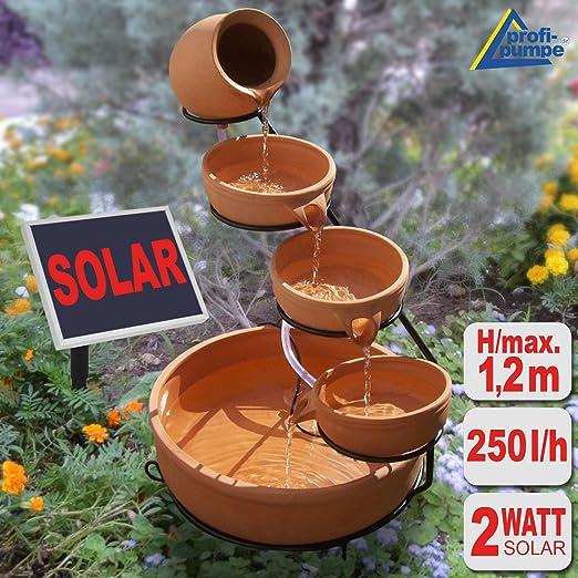 Amur - Fuente solar en cascada para jardines: Amazon.es: Jardín