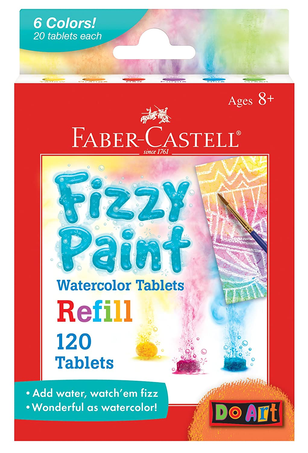 Faber Castell Do Art Fizzy Paint, Mix and Make Watercolor Kit for Kids Faber-Castell 14323