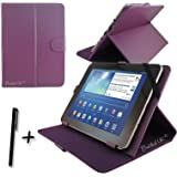 Purple PU Leather Case Cover Stand for FUSION5 & HD & XTRA & V3 10.1'' 10.1 inch ANDROID TABLET PC