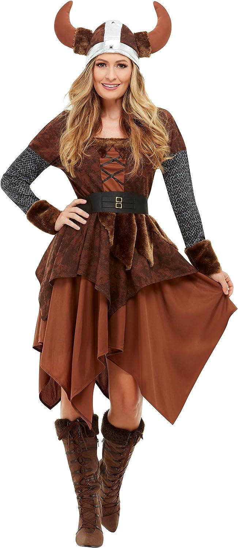 Smiffys 50742L - Disfraz de reina bárbara vikinga, para mujer ...