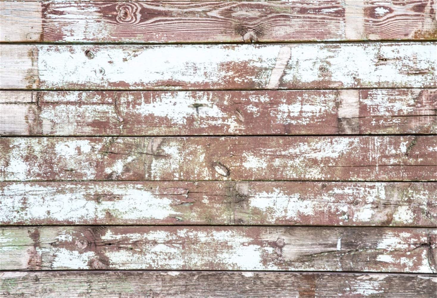 Polyester 8x6ft Grunge Faded Lateral-Cut Wood Plank Photography Background Rustic Weathered Wooden Board Backdrop Children Adult Pets Artistic Portrait Shoot Countryside