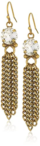 Sorrelli Lisa Oswald Collection Fringed Crystal Drop Earrings