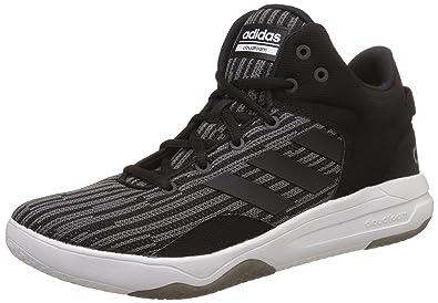 9c4df241112d adidas neo Men s Cf Revival Mid Grefou Cblack Cblack Leather Sneakers - 10  UK