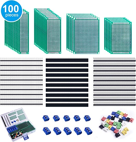 10 Stk Gerade 5 mm Rastermaß PCB Platine Schraubklemmenblock Stecker Blau