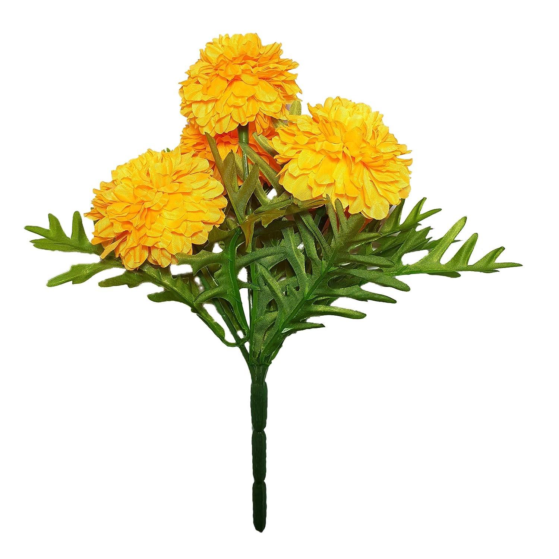 Amazon Goodgoodsthailand Thai Artificial Yellow Marigold Bunch