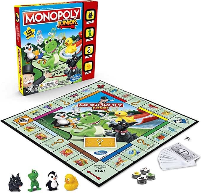 Hasbro Gaming Monopoly – Junior, edición para niños, Versión italiana: Amazon.es: Juguetes y juegos