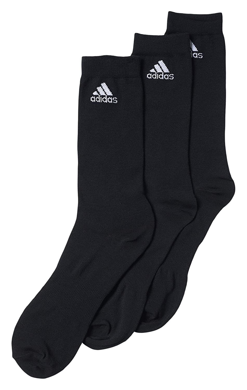 adidas Men's Performance Thin Crew 3 Pair Socks AA2314441313