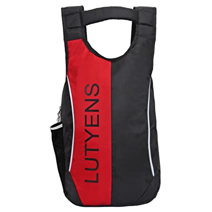 c780b6c8e377 Lutyens 21 Litre Black Red Polyester Backpack  Amazon.in  Bags ...
