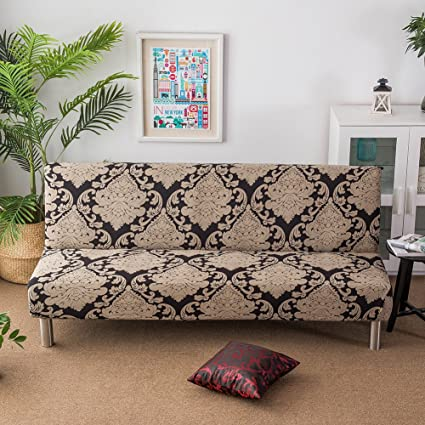 Amazon.com: blue--net Armless Sofa Cover Stretch Sofa Bed ...
