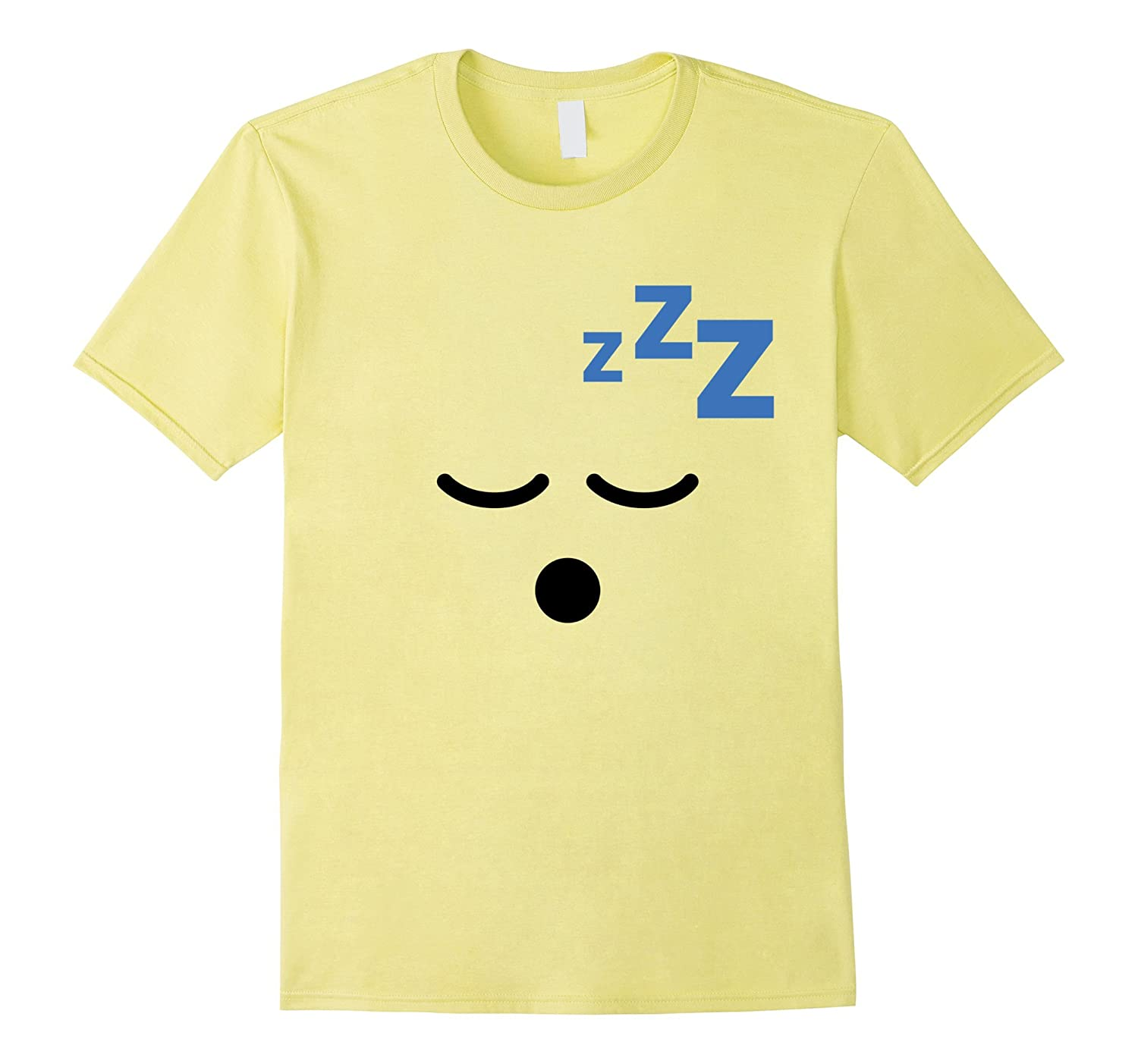 Zzz Sleeping Snoring Face Emoji T Shirt Costume-FL