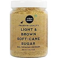 Urban Platter Light Soft Brown Cane Sugar, 300g / 10.5oz [All Natural, Rich in Taste, Khandsari Sugar]