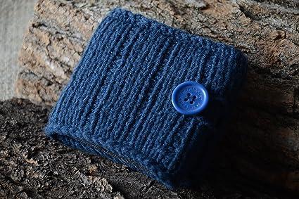 Monedero original con boton accesorio de moda artesanal regalo para hombre
