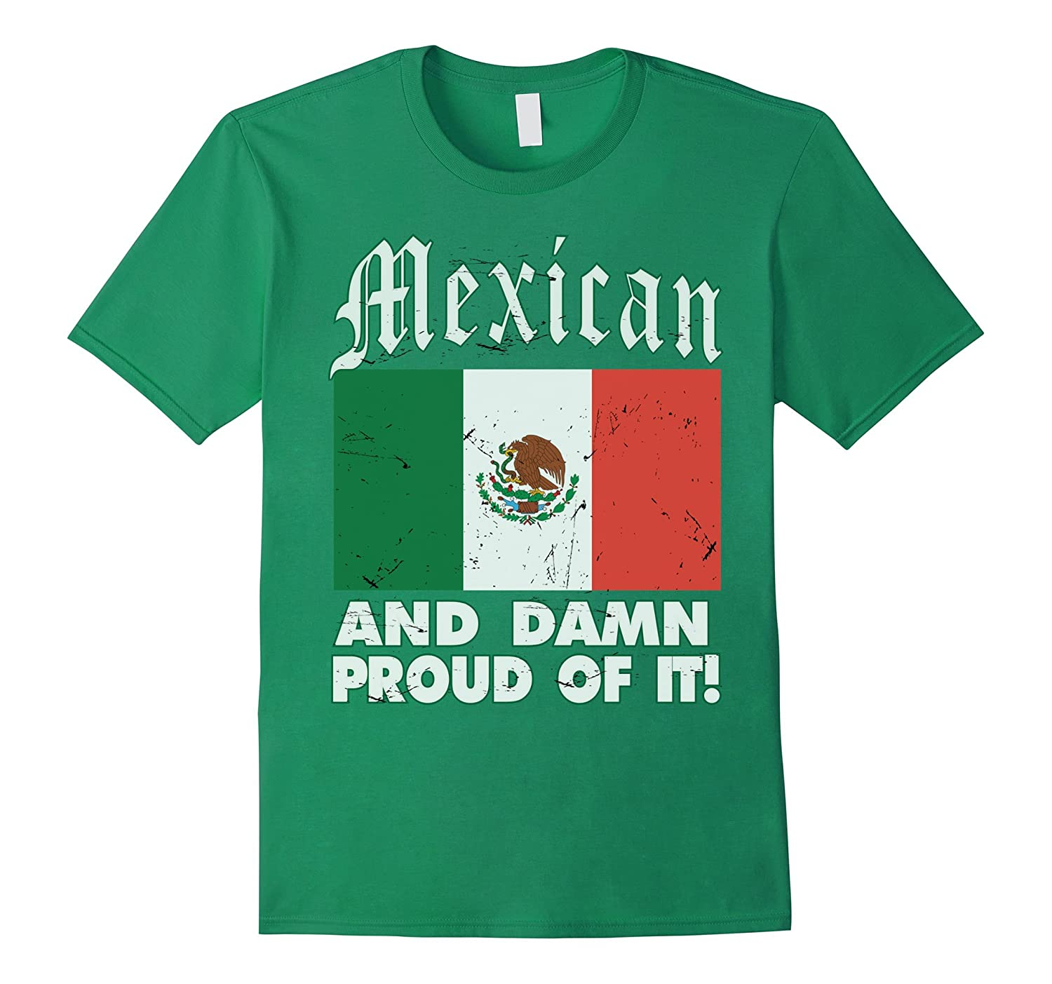 CaliDesign Men's Mexico T-Shirt Mexican And Proud Flag Pride