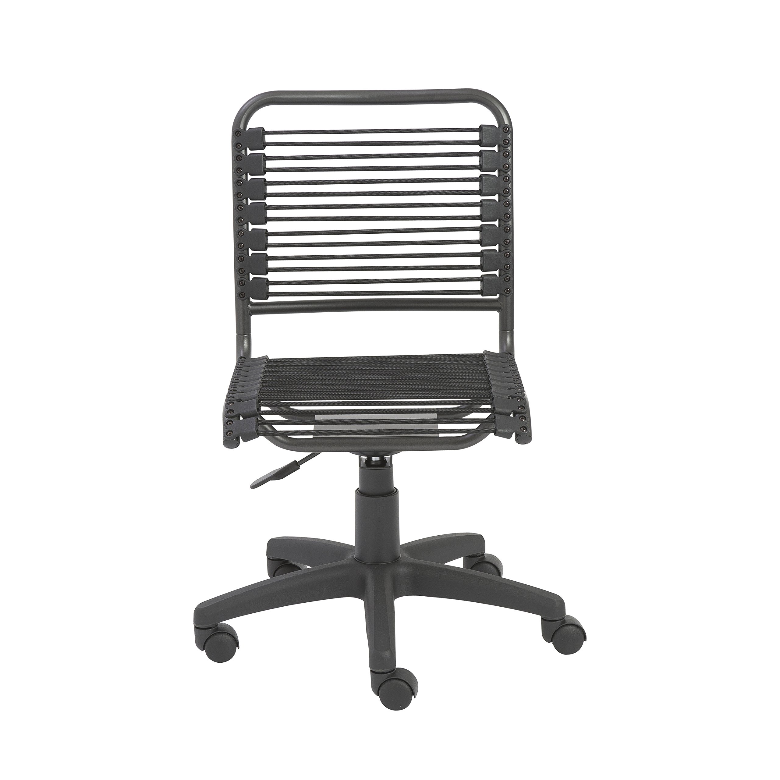 Euro Style Bungie Low Back Adjustable Office Chair, Black Bungies with Graphite Black Frame by Eurø Style