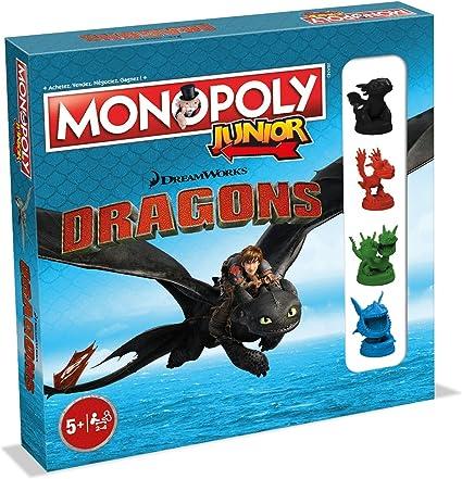 Winning Moves- Monopoly Junior Dragons 0236, versión Francesa: Amazon.es: Juguetes y juegos