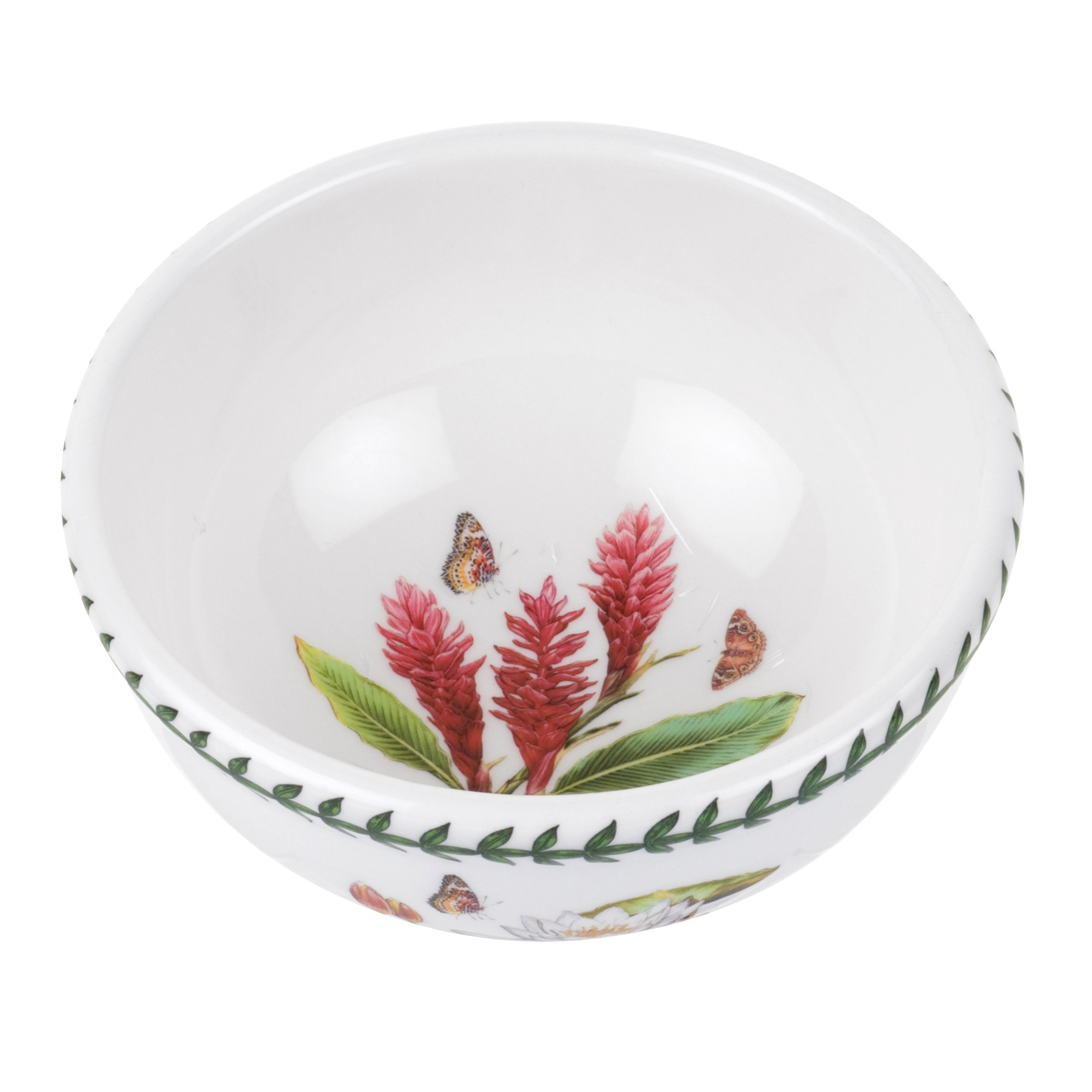 Portmeirion Exotic Botanic Garden Individual Fruit Salad Bowl with Red Ginger, Set of 6
