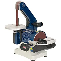 """Product Image: RIKON Power Tools 50-151 Belt with 5"""" Disc Sander, 1"""" x 30"""", Blue"""