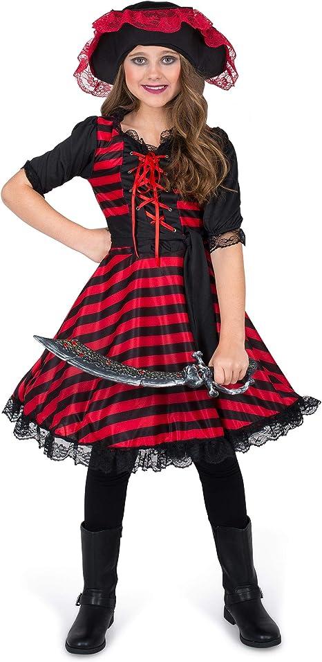 Generique - Disfraz Pirata del pacífico para niña 5-6 años (116 cm ...