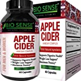 Apple Cider Vinegar Pills for Weight Loss - Extra Strength Fat Burning Supplement - Pure Detox Cleanse & Digestion Support - Natural Apple Cider Vinegar Capsules for Men & Women - By Bio Sense