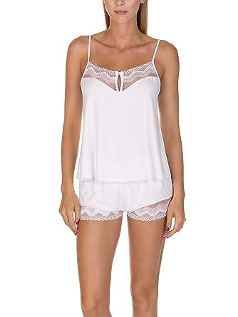 51cb8693ea0c2c Lisca Top et Shorty Taille Haute Forever Blanc: Amazon.fr: Vêtements ...