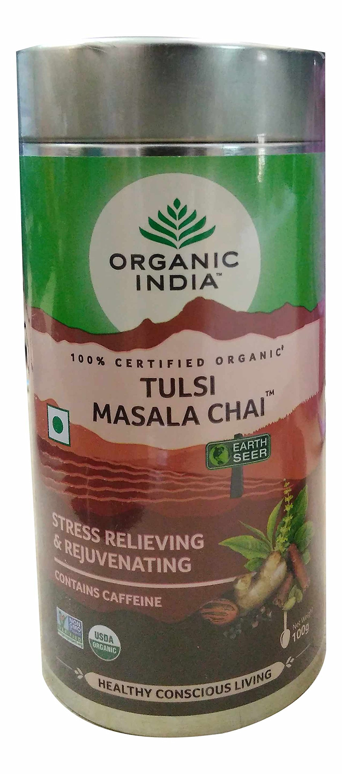 (12 PACK) - Organic India - Org Tulsi Masala Chai | 100g | 12 PACK BUNDLE