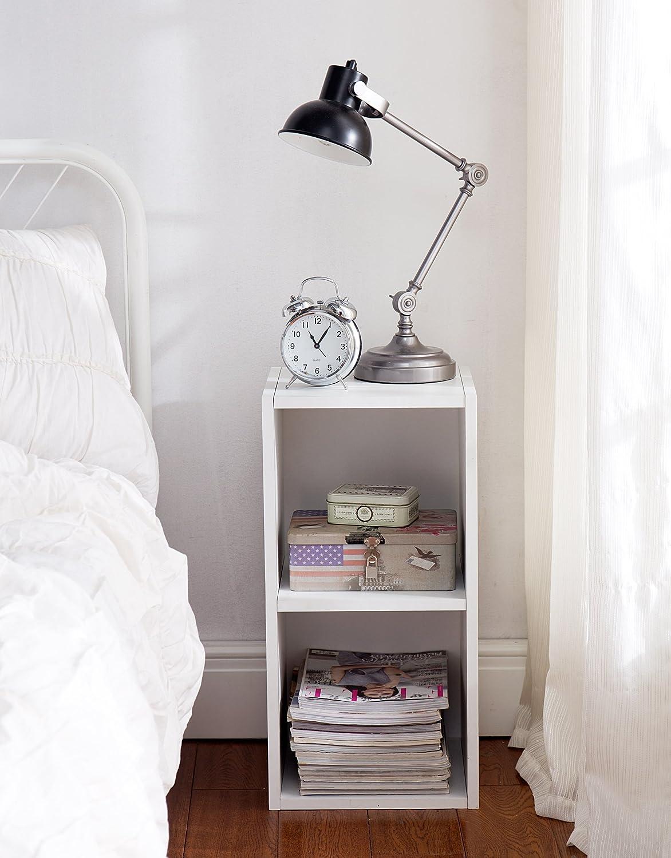 Small white nightstand alarm clock industrial lamp boho chic bedroom ideas