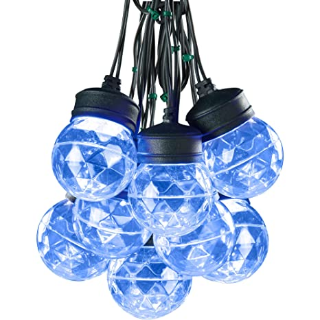Amazon led lightshow 8 light blue color projection round light led lightshow 8 light blue color projection round light string with clips aloadofball Choice Image