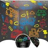 Night Light for Kids,Toys for 2-8 Year Old Boys,Star Projector Night Light 2 in 1 Cars Toys for Boys Age 6-8,Birthday Kids Gi