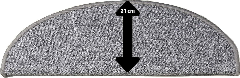 65x21x4 cm Gris Tapis de Marche d?escalier Amsterdam