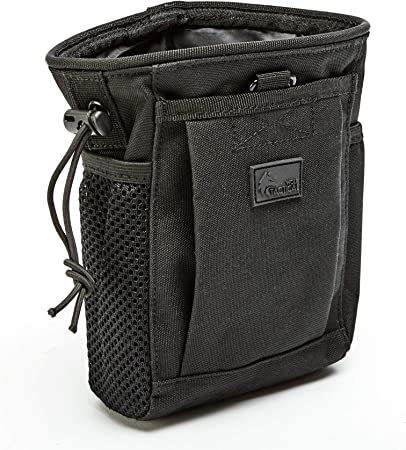 WOLF TACTICAL Drawstring MOLLE Dump Pouch - EDC Drop Bag for Ammo, Magazines, Range Shooting, Hunting, Outdoor Sports
