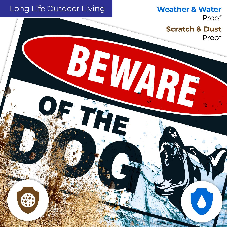 Amazon.com: Señal de advertencia para perro, cuidado con el ...
