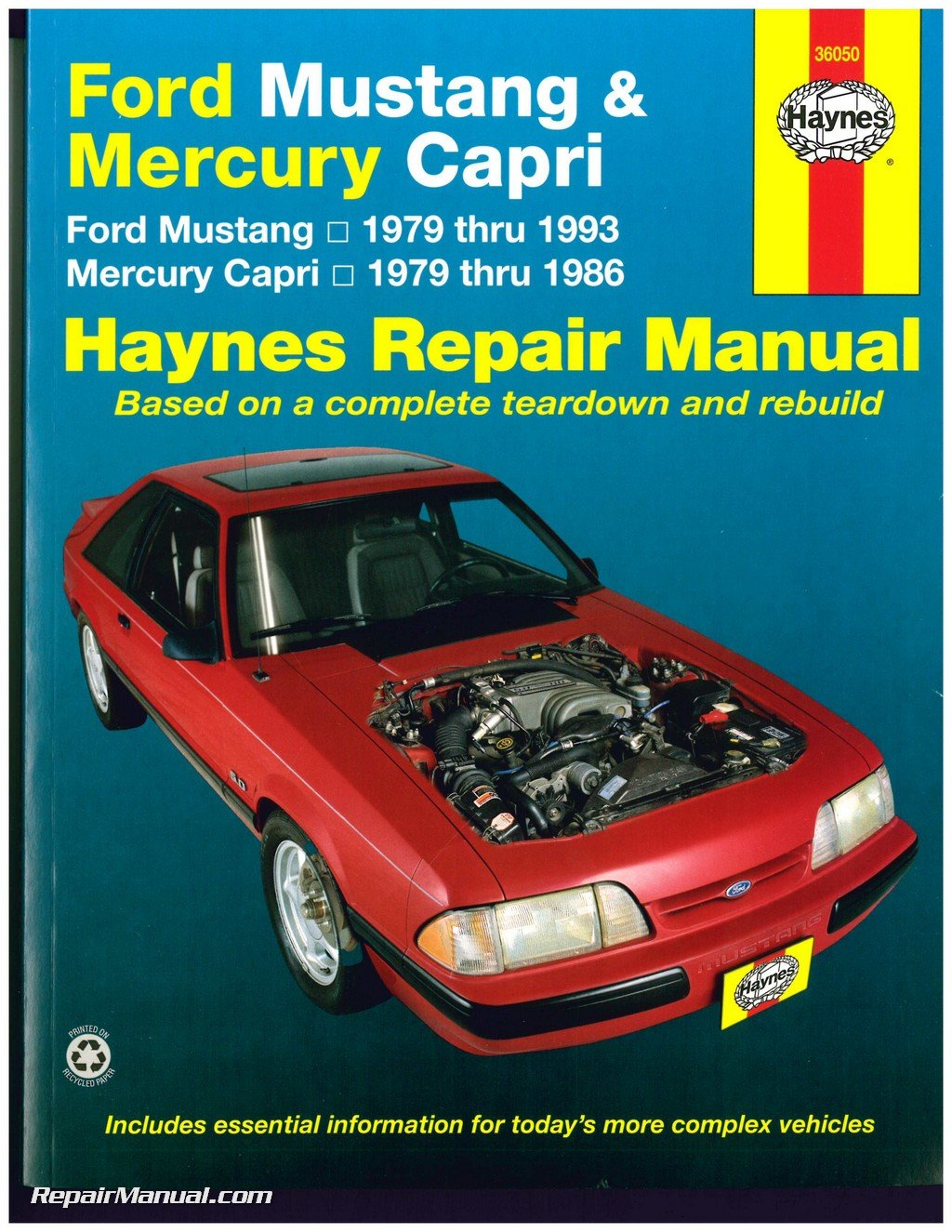 H36050 Haynes Ford Mustang 1979-1993 Mercury Capri 1979-1986 Auto Repair  Manual: Manufacturer: Amazon.com: Books