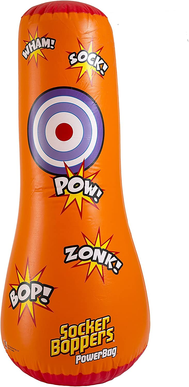 Big Time Toys Socker Bopper Power Bag Standing Inflatable Punching Bag for Kids