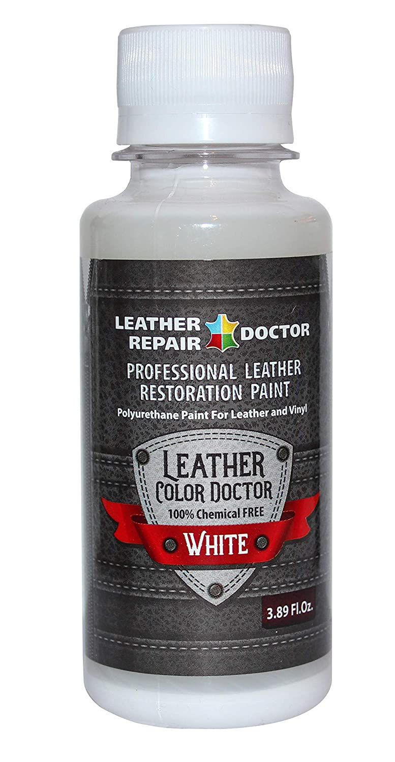 Professional White Leather Paint For Touch-Up, Recoloring and Restoration -  Shoes, Jacket, Purse, Belt, Couch Chair, Sofa, Motorcycle and Car Seat