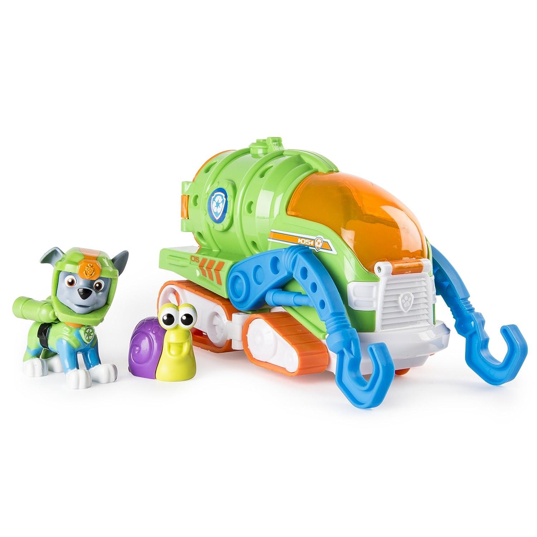 PAW PATROL Spinmaster – 6038284 Sea Patrol – Rocky – Spielset mit Fahrzeug, Action Pup Spielfigur und Tierfreund Spin Master 20093755