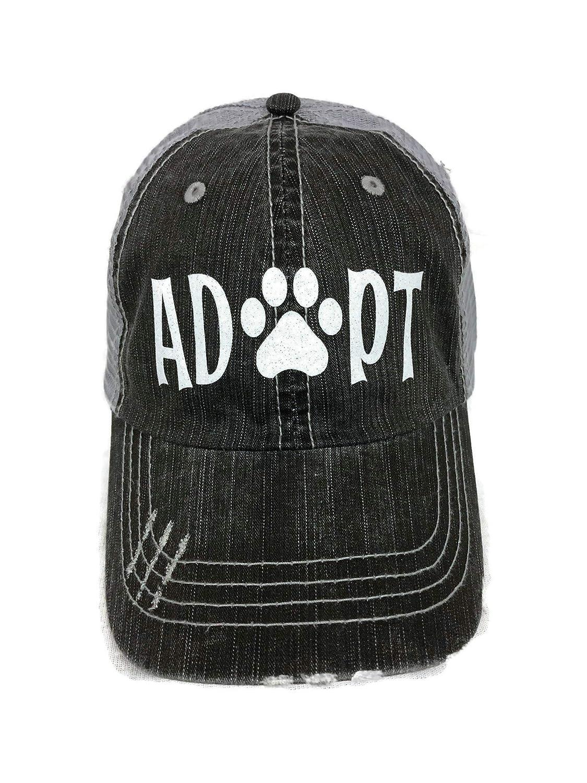 4ee91d50bd786 White Glitter Adopt Paw Print Mom Grey Trucker Baseball Cap Animal Dog Cat  at Amazon Women s Clothing store