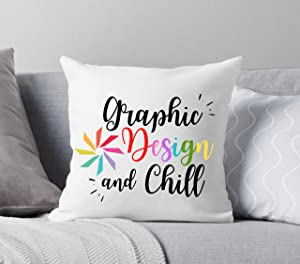 Wini2342ckey Home Office Throw Pillow,Entrepreneur Gift,Gifts for Small Business,Graphic Design Pillow,Office Gifts,Secret Santa,Gift for Designers 18