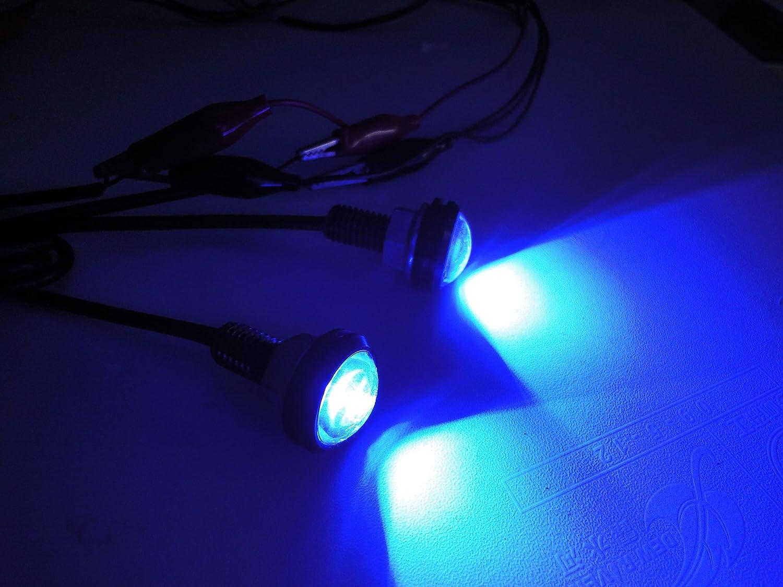 10PCS, Blue High power 3w eagle eye lamp led lighting with Screw led car motorcycle reversing light led daytime running light parking lights