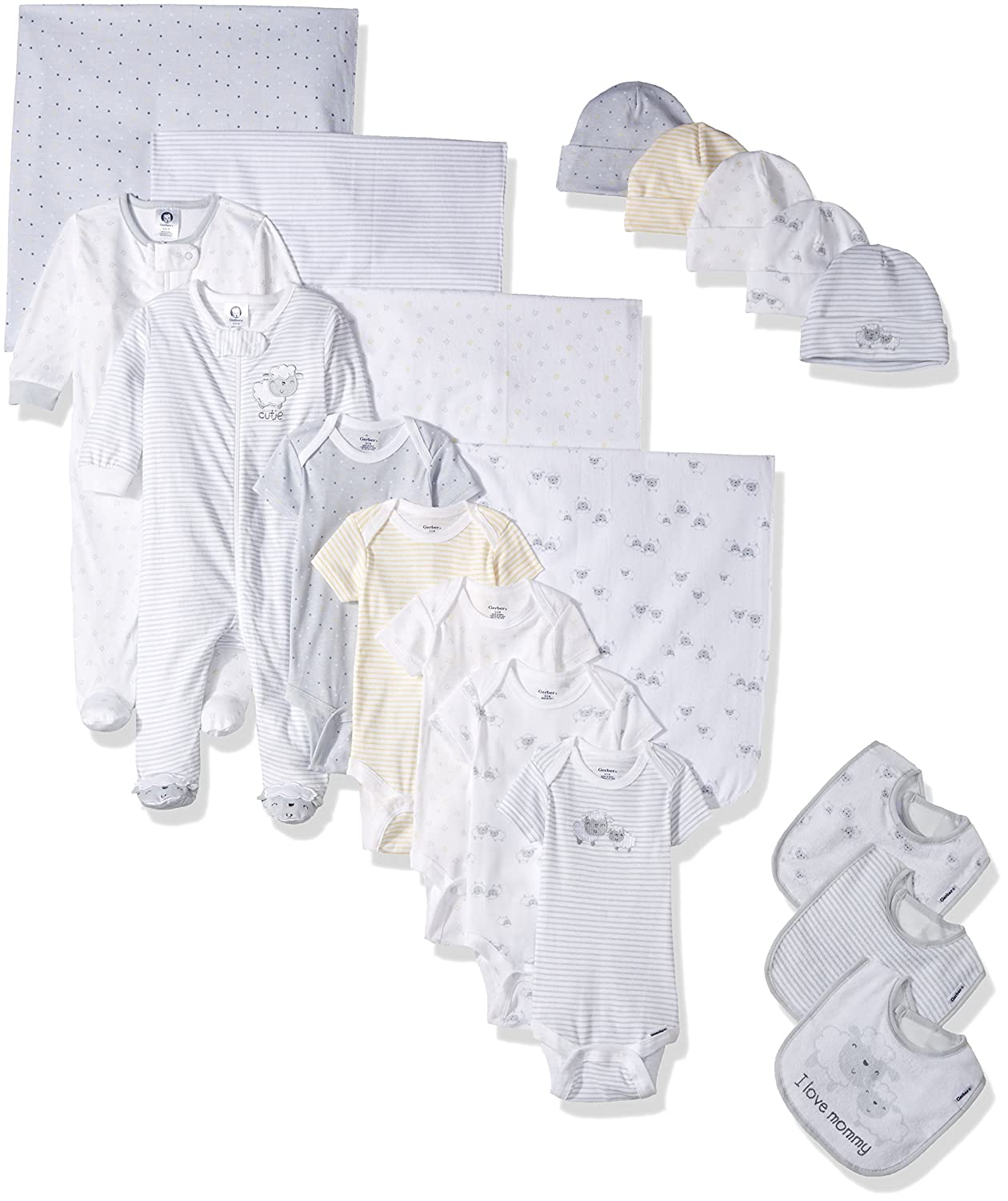 Gerber Baby 19-Piece Essentials Gift Set Teddy Newborn Gerber Children' s Apparel 95792016AN17AST