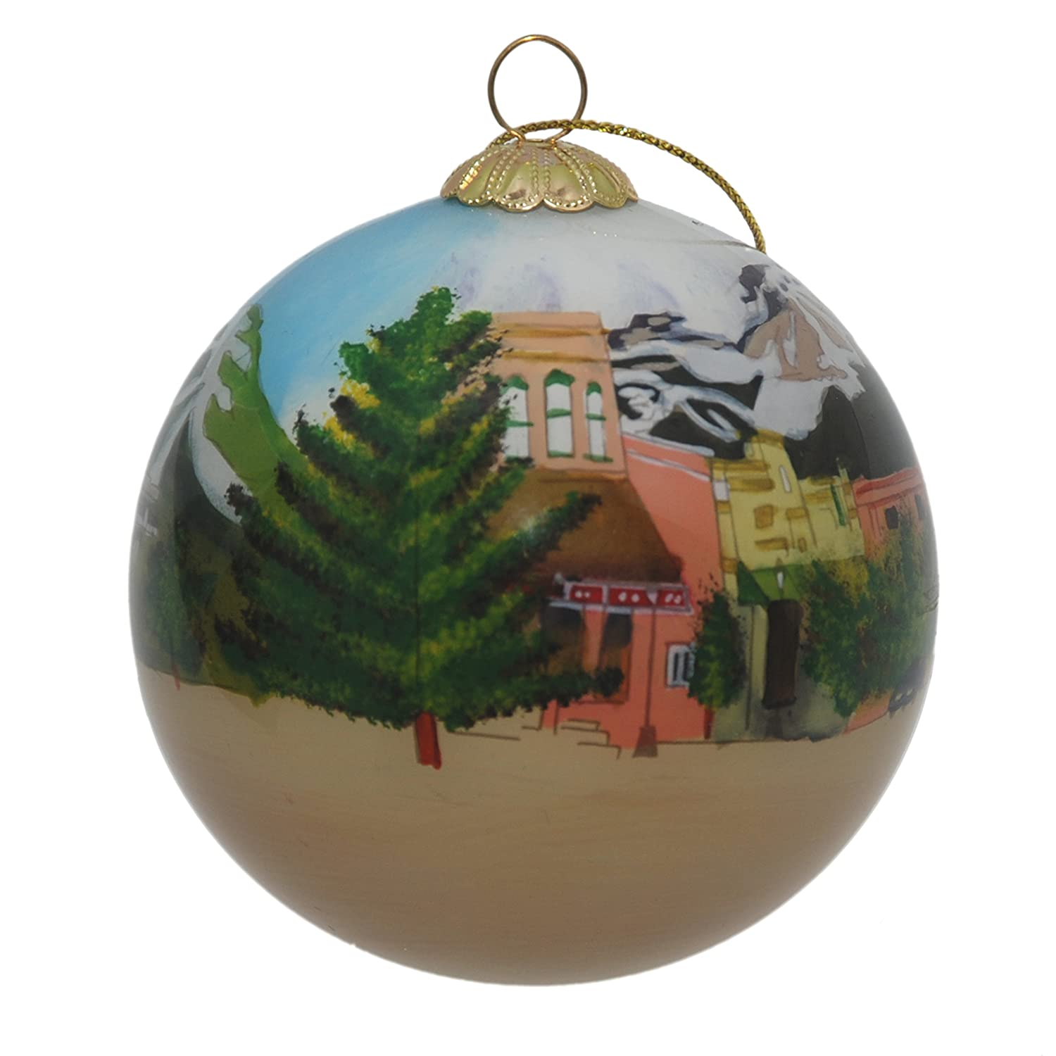 Steamboat Springs Glass Ornament Summer